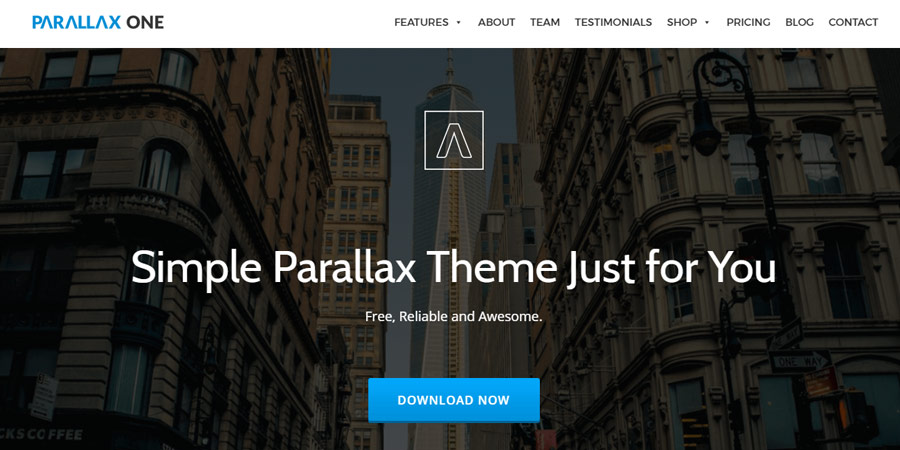 Parallax One – Free One Page WordPress  Theme