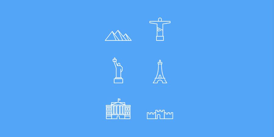 Landmark Icon Set