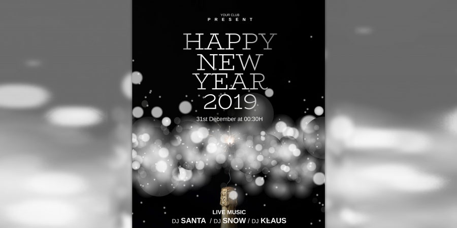 Elegant New Year Cover Template Free PSD