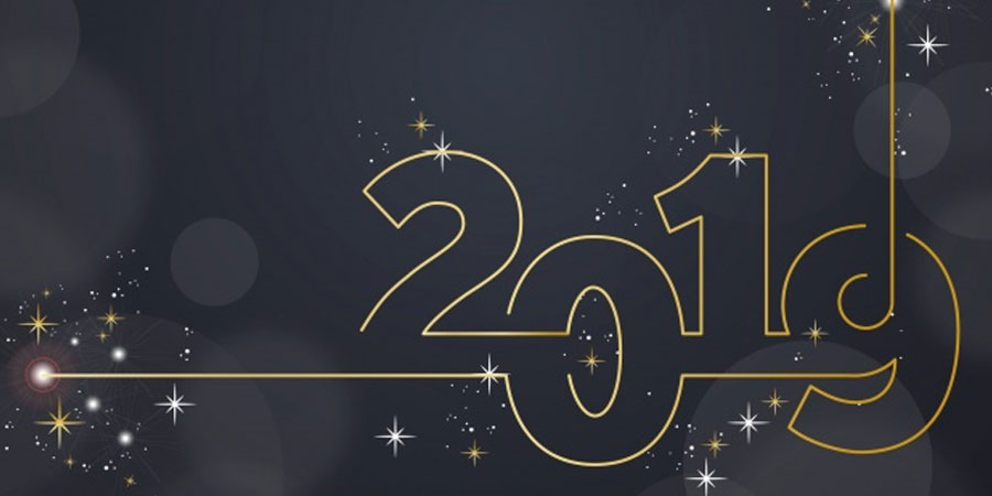 Sparkling Number New Year Background