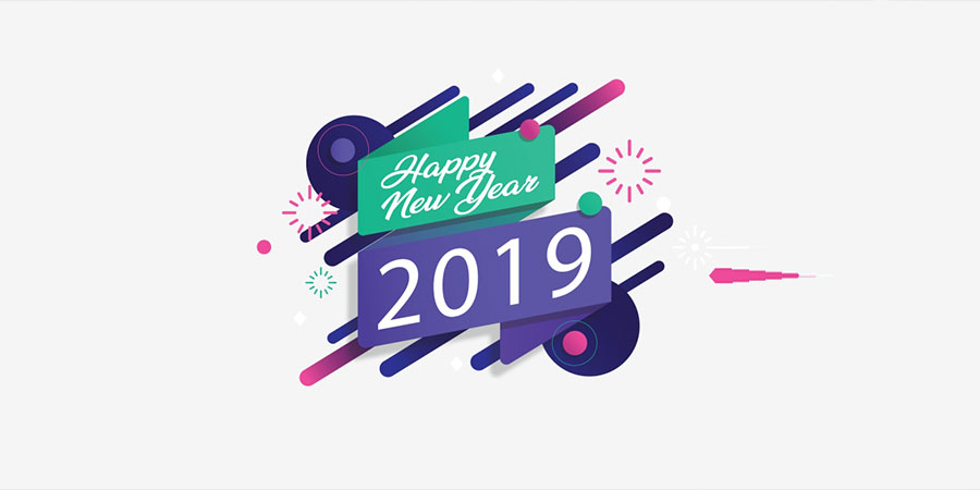 Happy New Year 2019 Free Vector and PNG