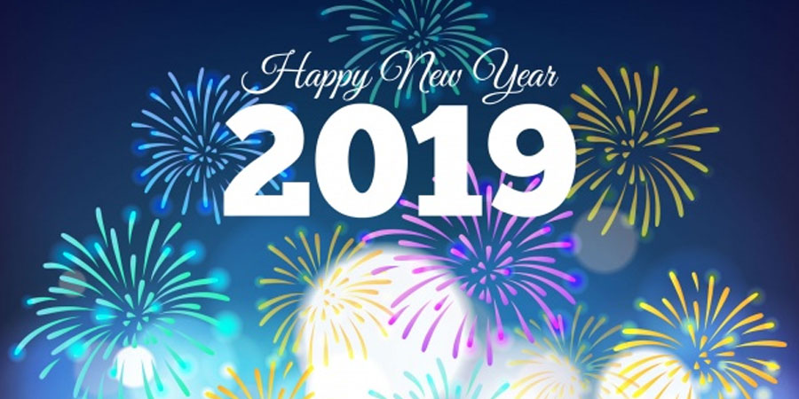 New Year 2019 Background Free