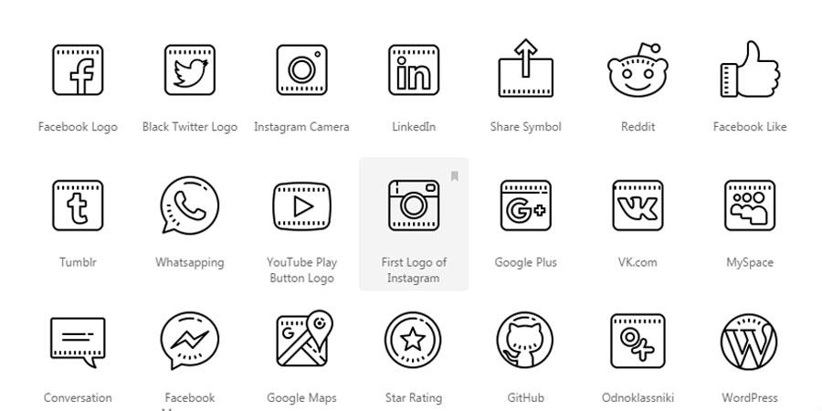 Social media, Decorative Outline Icon