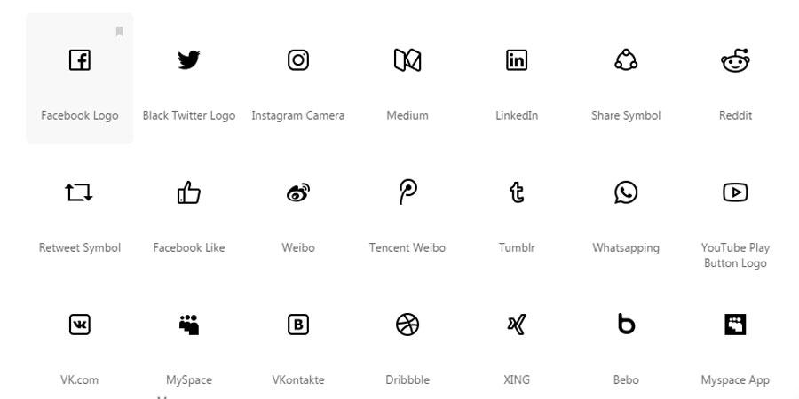 Social media Icon for Windows 10