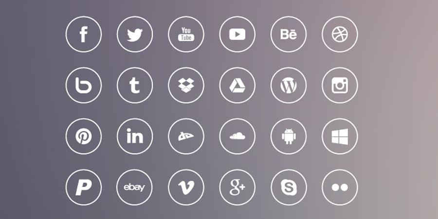 iOS7 Style Social Media Icons