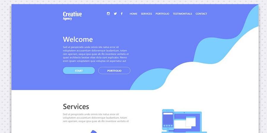 Free onepage layout