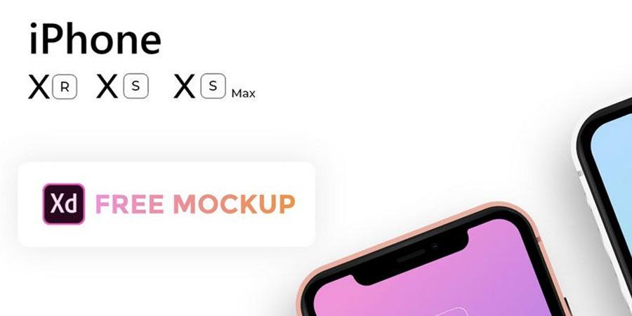 Free Apple iPhone Xs, Xs Max, Xr Mockup