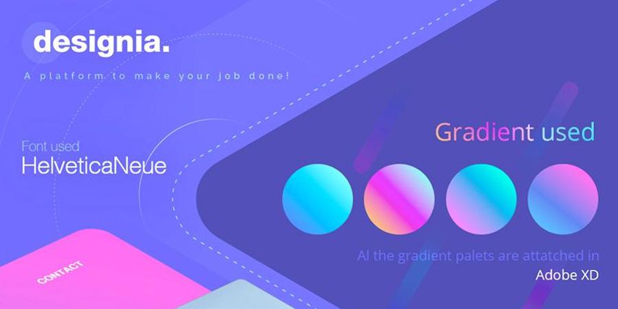 Designia - Design agency landing page
