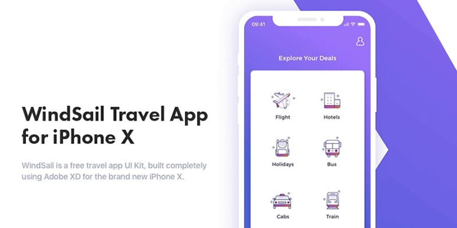 Windsail Travel App For Brand New iPhone X