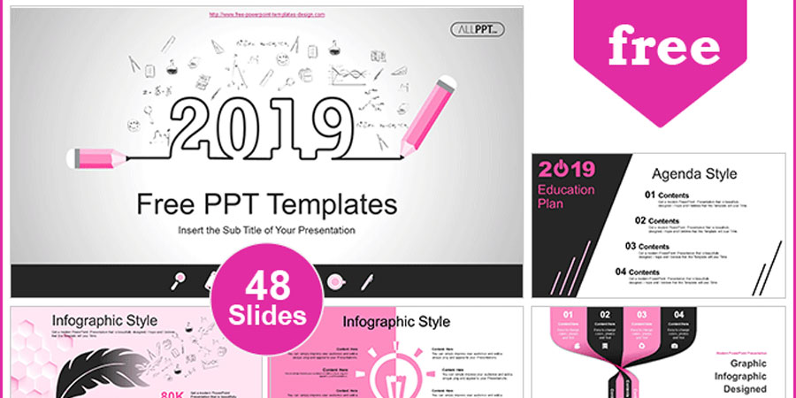 2019 Education Plan PowerPoint Templates