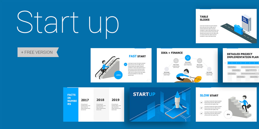 Start up Free Business PowerPoint Template