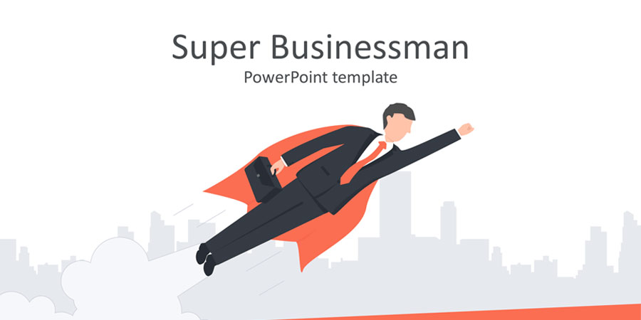 Super Businessman PowerPoint Template