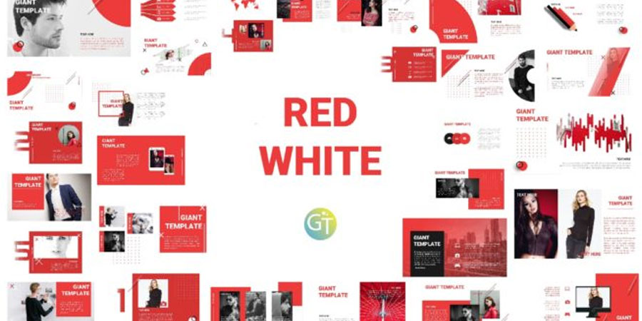 Red and White Template PPT