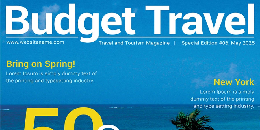 Free Travel Magazine Cover Template