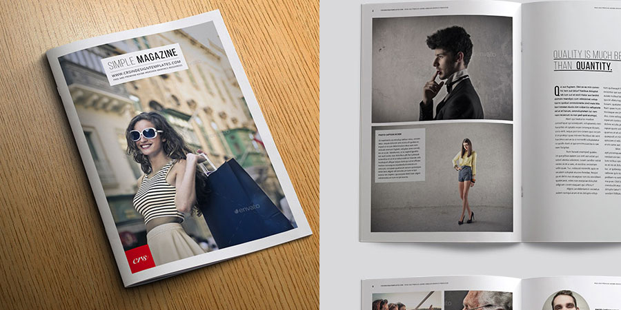 Free Men's Fashion Magazine Cover Template