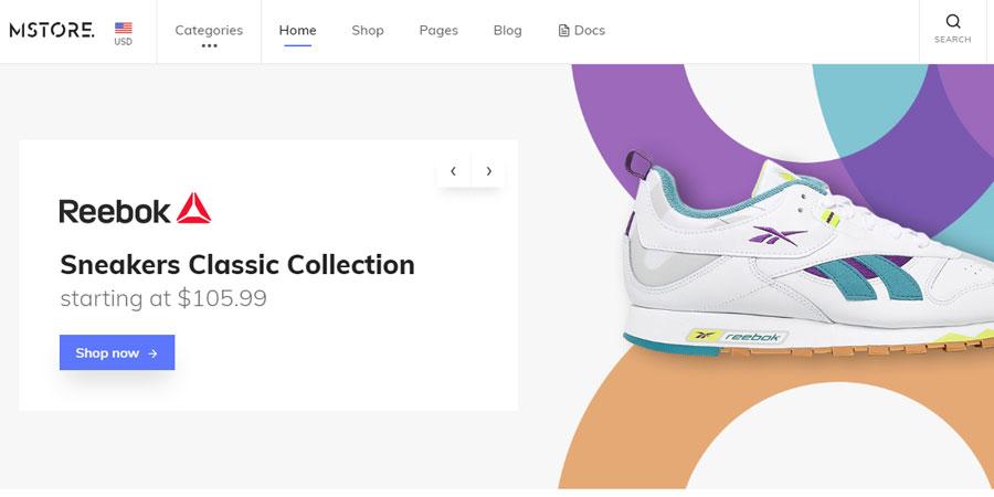 MStore - Modern E-Commerce Template