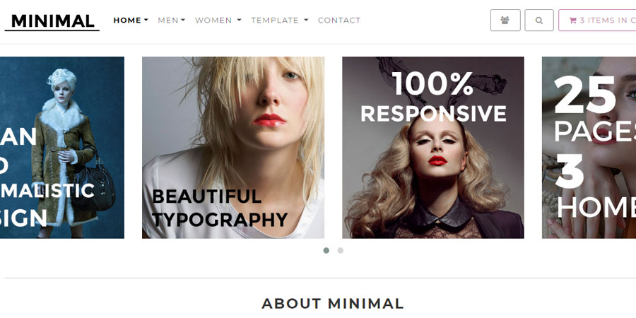 Minimal - Responsive E-Commerce Theme