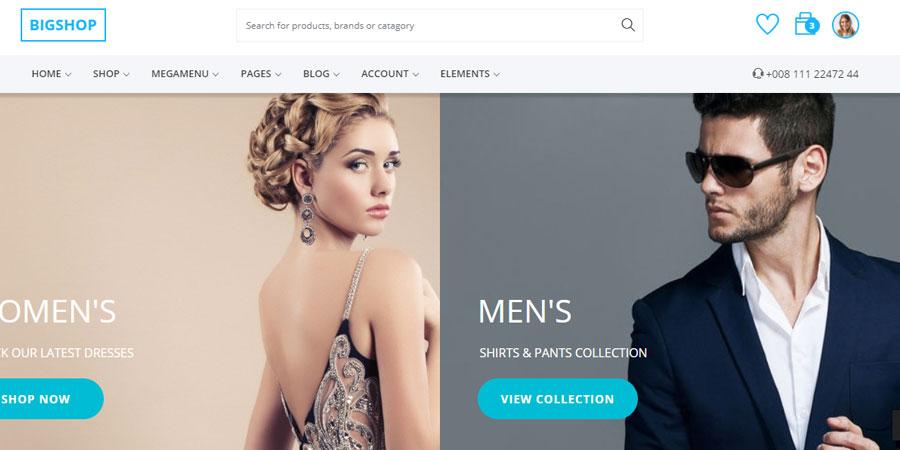 Bigshop - Responsive E-commerce Template