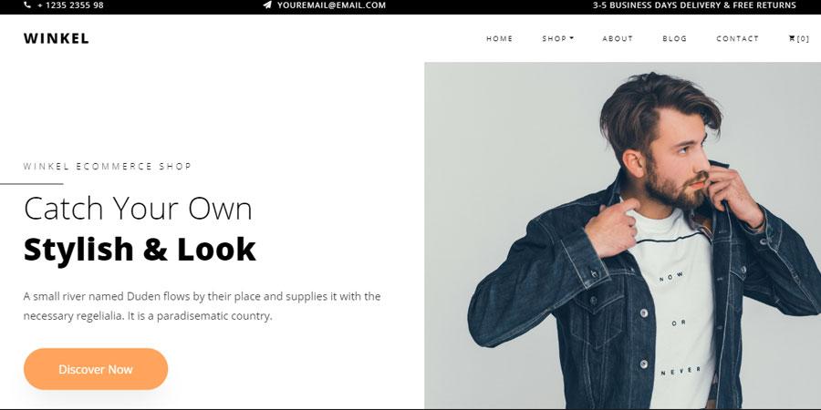 Winkel - Free Bootstrap 4 Website Template