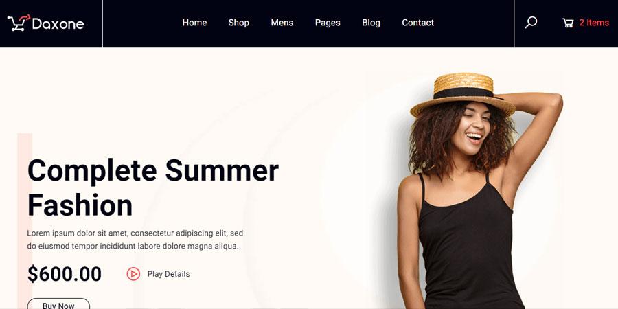 Daxone eCommerce HTML Template