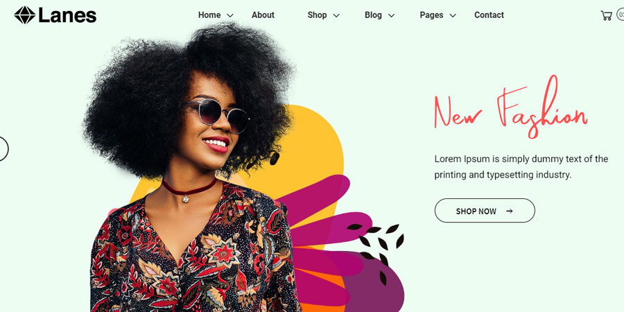 Lanes - eCommerce Bootstrap 4 Template