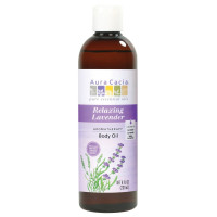 Aura Cacia, Aromatherapy Body Oil, Relaxing Lavender - 8 fl oz (237 ml)