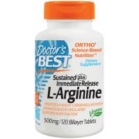 Doctor's Best, L-Arginine, 500 mg - 120 Bilayer Tablets
