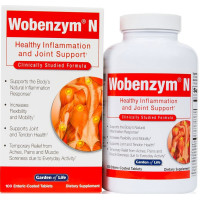 Garden of Life, Wobenzym N, Healthy Inflammation and Joint Support - 100 Enteric-Coated Ta
