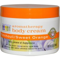 Aura Cacia, Aromatherapy Body Cream, Patchouli / Sweet Orange - 8 fl oz (236 ml)