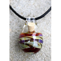 Dreaming Earth, Glass Aromatherapy Jewelry,  Necklace for Essential Oils
