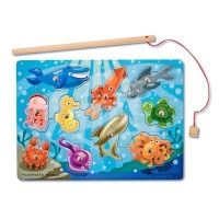 Melissa & Doug, Deluxe 10-Piece Magnetic Fishing Game