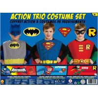 Boys Action Trio Superhero Costume Set