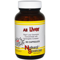 Natural Sources, All Liver - 60 Capsules