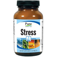 Pure Essence, Stress, 4 Way Support System - 60 Tablets