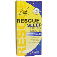 Bach, Original Flower Remedies, Rescue Sleep Liquid Melts - 28 Capsules