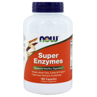 Now Foods, Super Enzymes - 180 Capsules