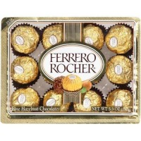 Ferrero Rocher, Chocolates 12 CT Box - 5.3 oz (150 g)