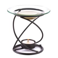 Decalify, Spiral Metal and Glass Fragrant Oil Warmer