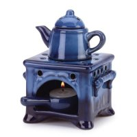 Furniture Creations, Country Kitchen Ceramic Kettle Stove Oven Oil Warmer