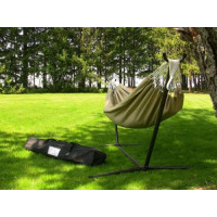 Vivere, Double Hammock with Space-Saving Steel Stand
