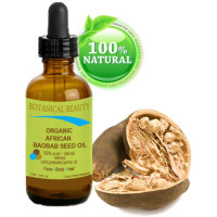 Botanical Beauty, 100% Pure & Natural Organic African Baobab Seed Oil - 0.5 fl. oz