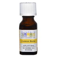 Aura Cacia, Lemon Balm, Uplifting - 0.5 fl oz (15 ml)