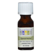 Aura Cacia, 100% Pure Essential Oil, Spearmint, Animating - 0.5 oz (15 ml)