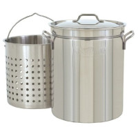 Bayou Classic, 44 Quart (40cm x 49cm) All Purpose Stainless Steel Stockpot with Steam and