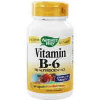 Nature's Way, Vitamin B-6, 50 mg - 100 Capsules
