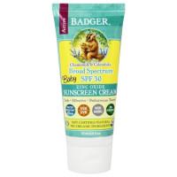 Badger, Baby Sunscreen Cream 30 SPF, Chamomile & Calendula - 2.9 oz. (87 ml)