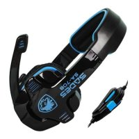 SADES, SA-708 Stereo Gaming Headphone Headset with Microphone (Blue)