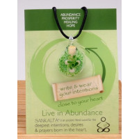 Zigizen, Sankalpa Live in Abundance, Aromatherapy Diffuser & Intention Amplifier Necklace
