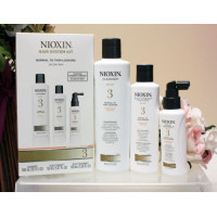Nioxin, System 3 Kit For Fine Hair Chemically Treated Normal to Thin-Looking Hair - 3 pcs
