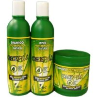 Boe, Crece Pelo 3 in 1 Combo Set (Shampoo 13.2 oz., Rinse 12.5 oz., Deep Treatment 16 oz.)